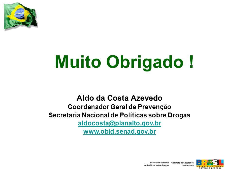 Muito Obrigado ! Aldo da Costa Azevedo Coordenador Geral de Prevenção