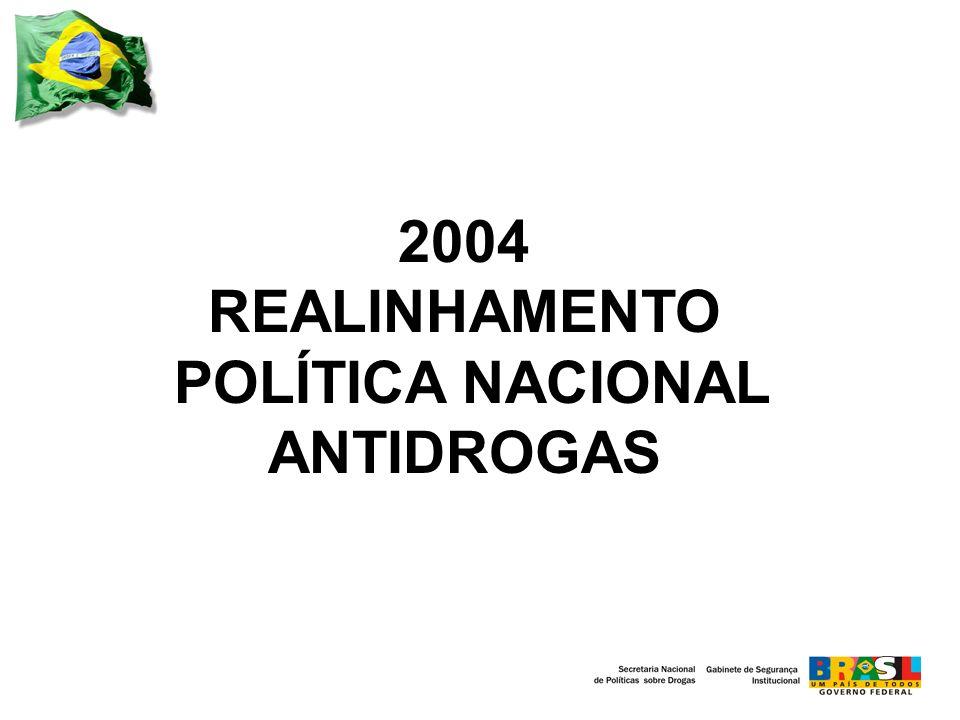 2004 REALINHAMENTO POLÍTICA NACIONAL ANTIDROGAS