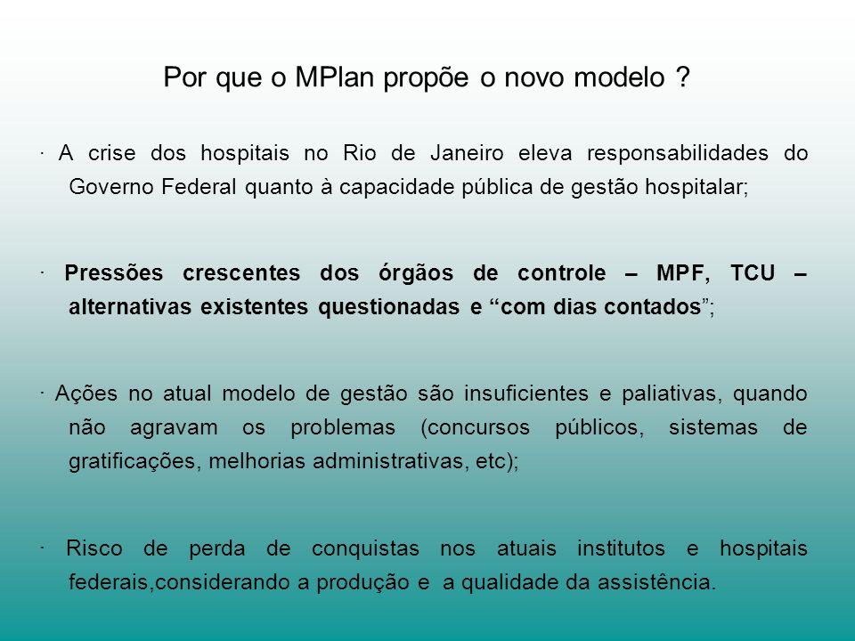 Por que o MPlan propõe o novo modelo