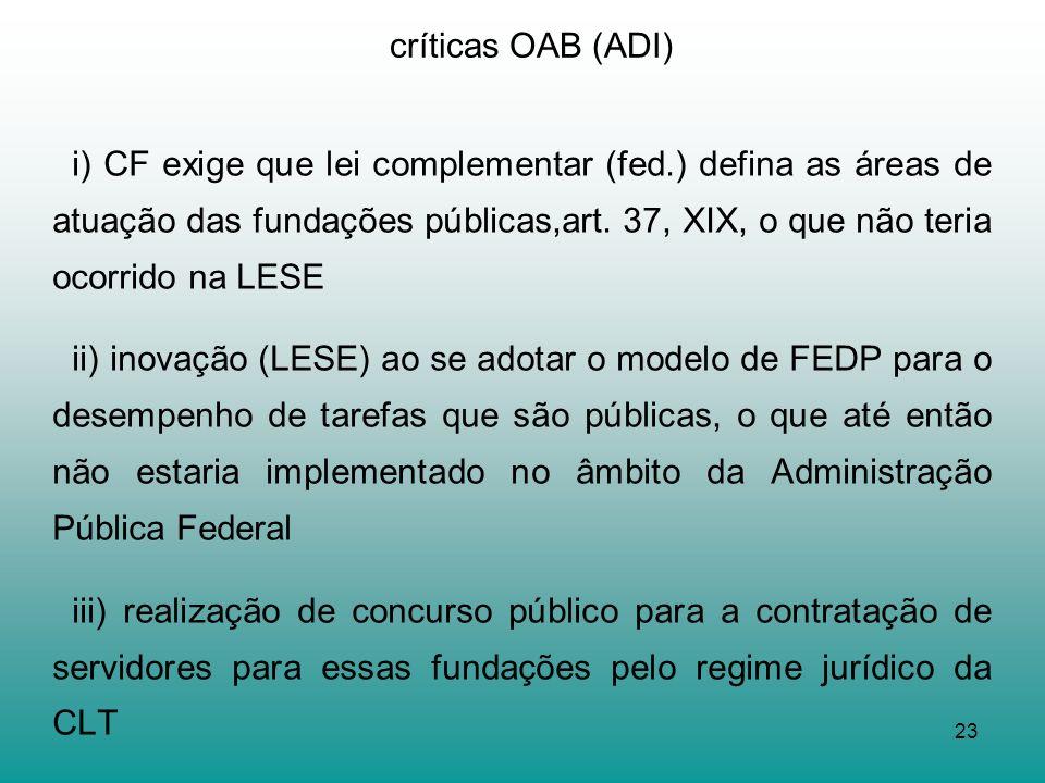 críticas OAB (ADI)