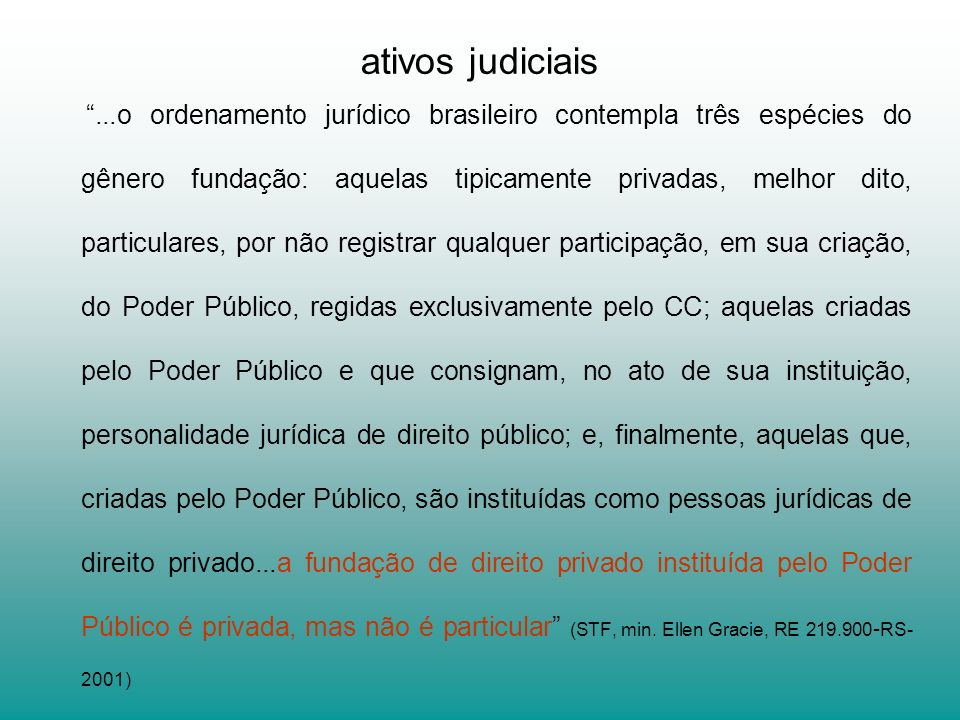 ativos judiciais