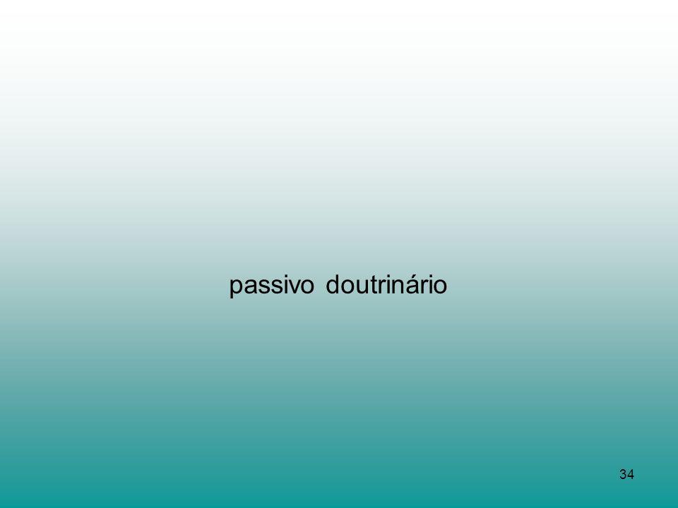 passivo doutrinário