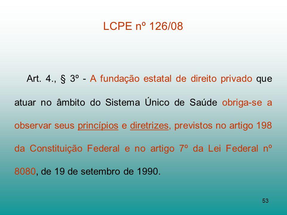 LCPE nº 126/08
