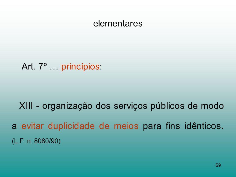 Art. 7º … princípios: elementares