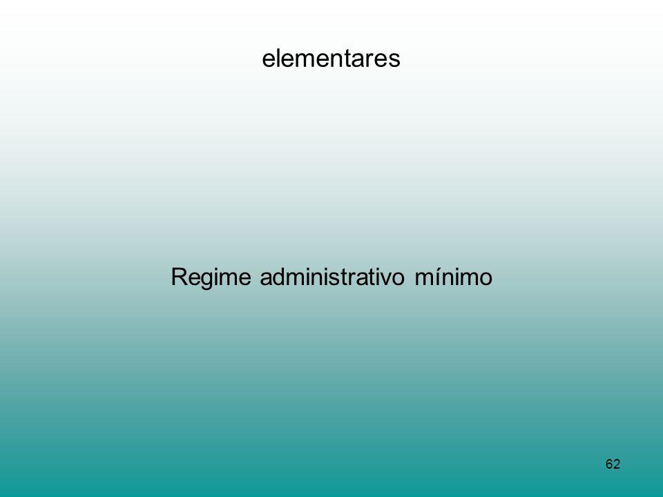 Regime administrativo mínimo