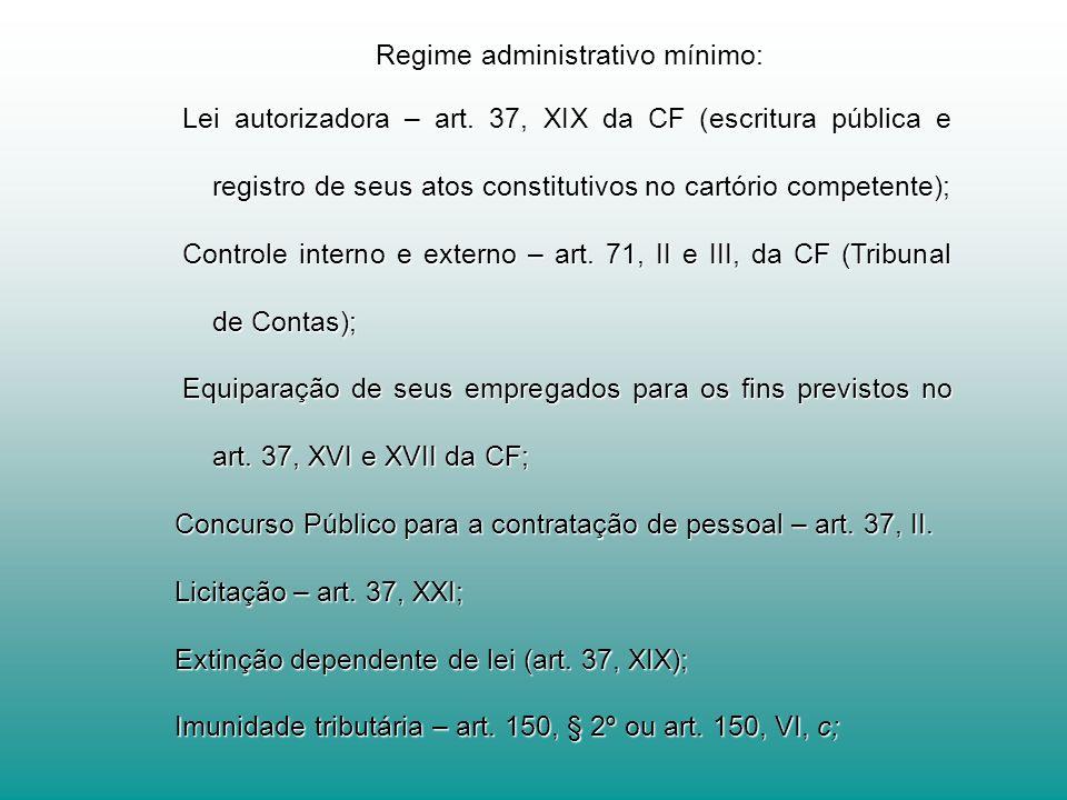 Regime administrativo mínimo: