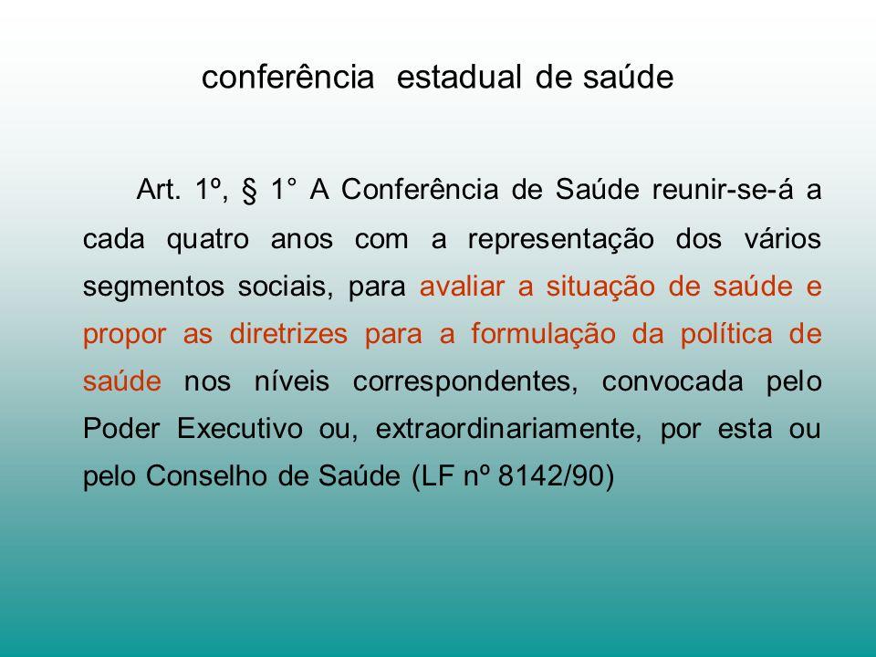 conferência estadual de saúde