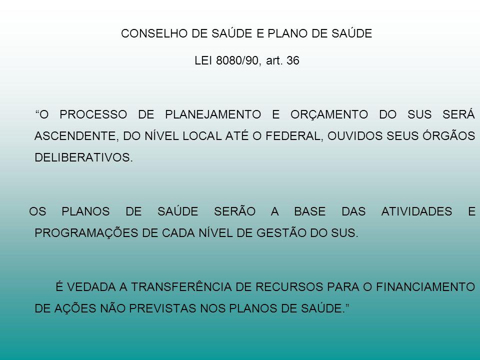 CONSELHO DE SAÚDE E PLANO DE SAÚDE