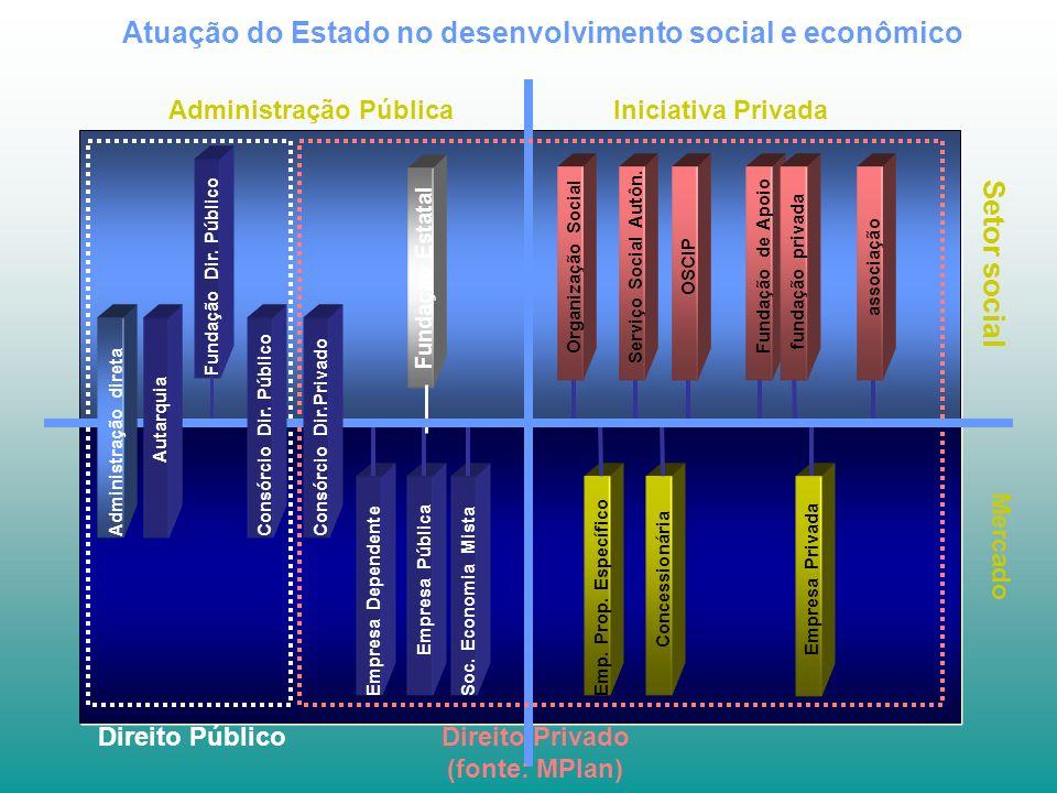 Atuação do Estado no desenvolvimento social e econômico