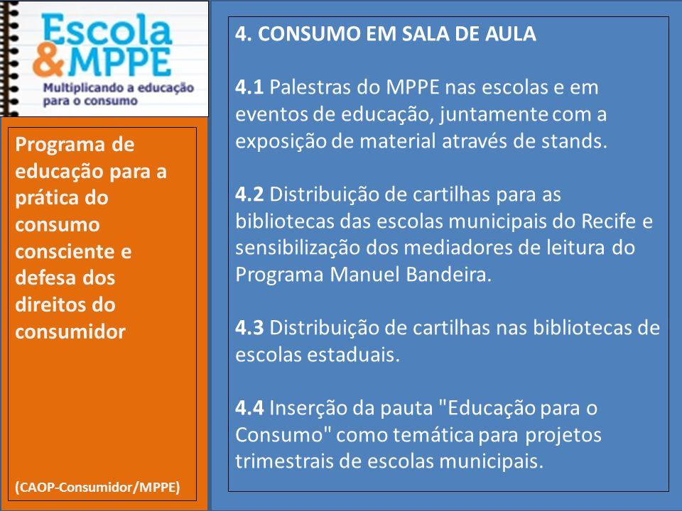 4.3 Distribuição de cartilhas nas bibliotecas de escolas estaduais.