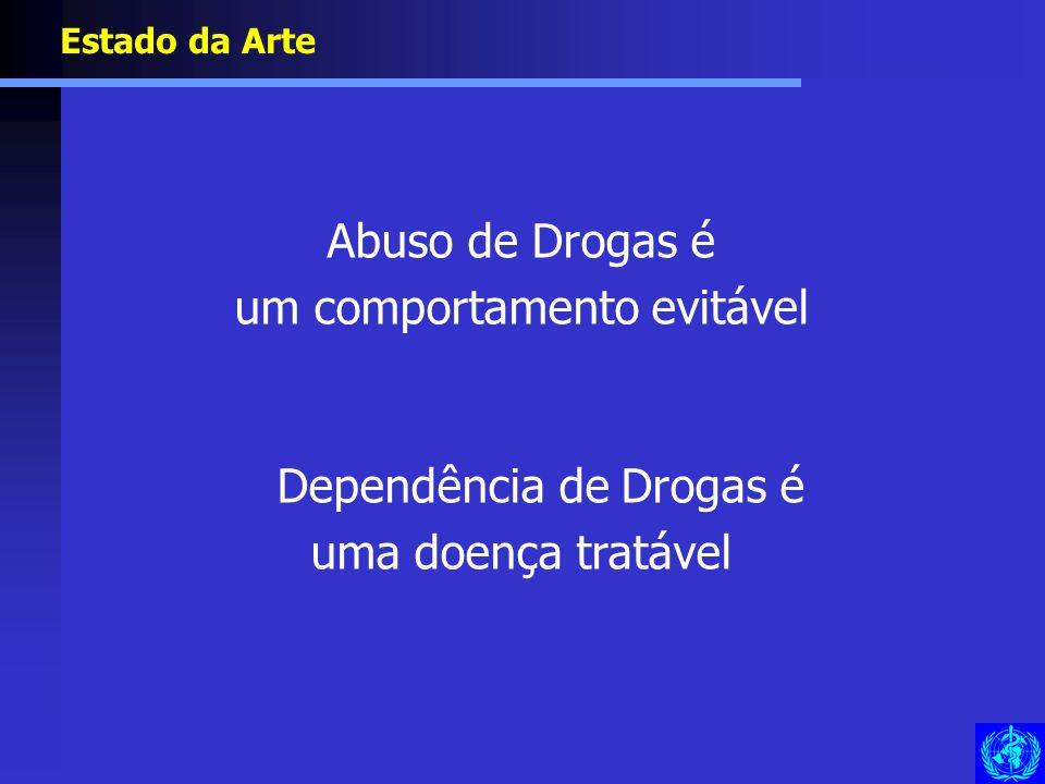 um comportamento evitável Dependência de Drogas é uma doença tratável