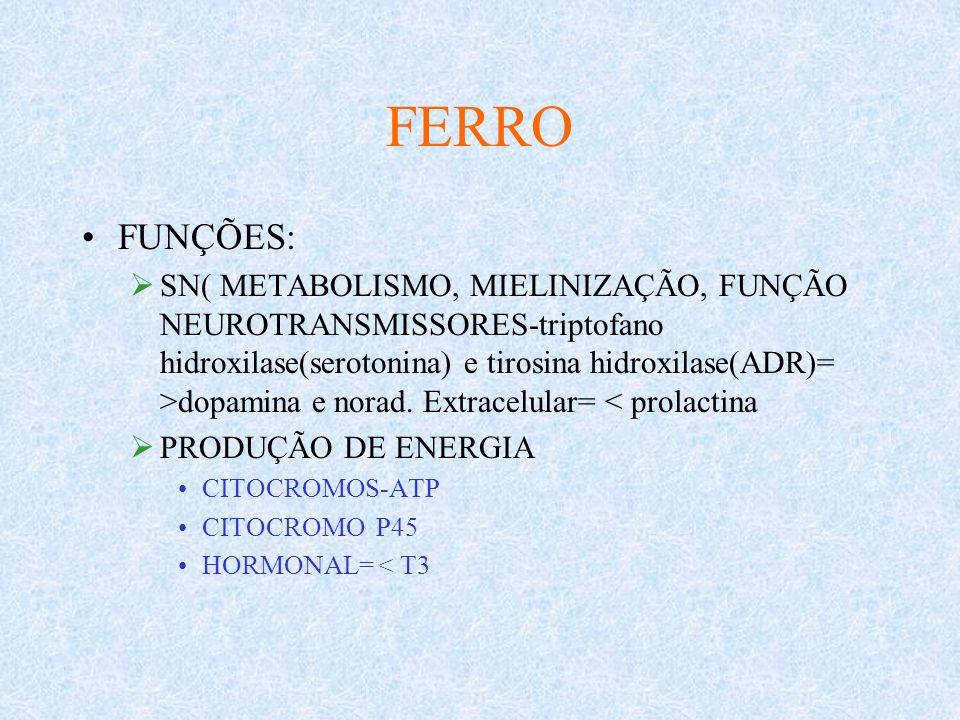 FERRO FUNÇÕES:
