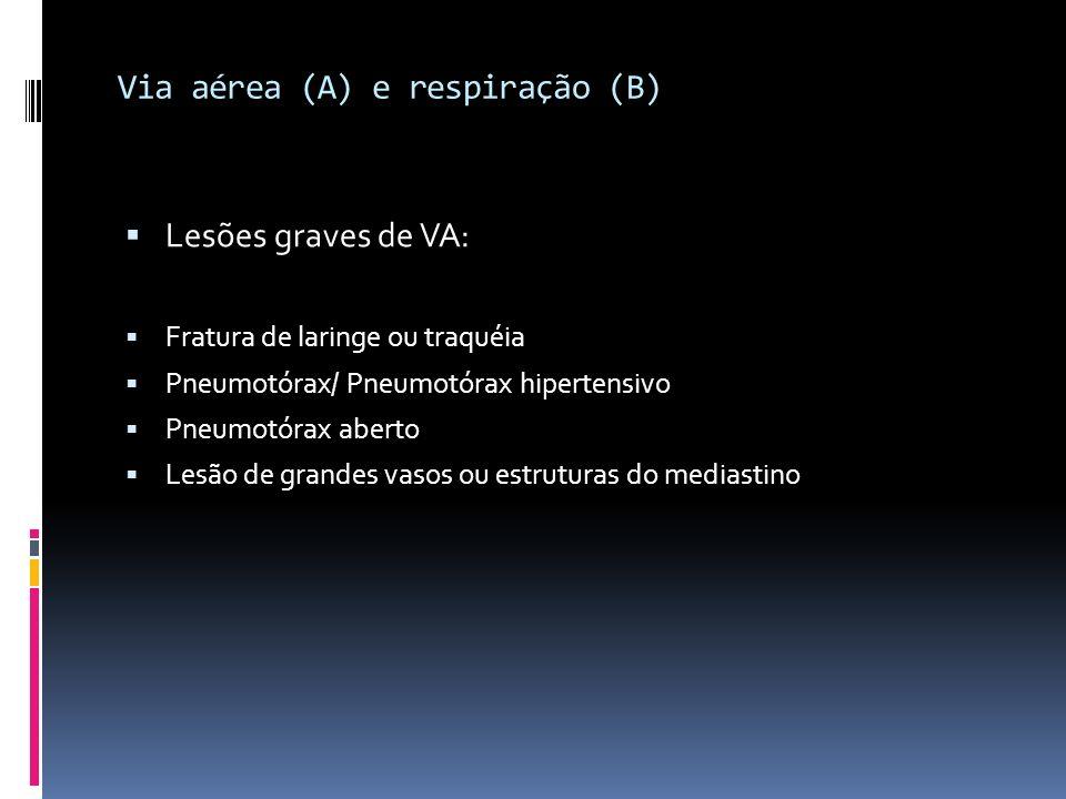 Via aérea (A) e respiração (B)