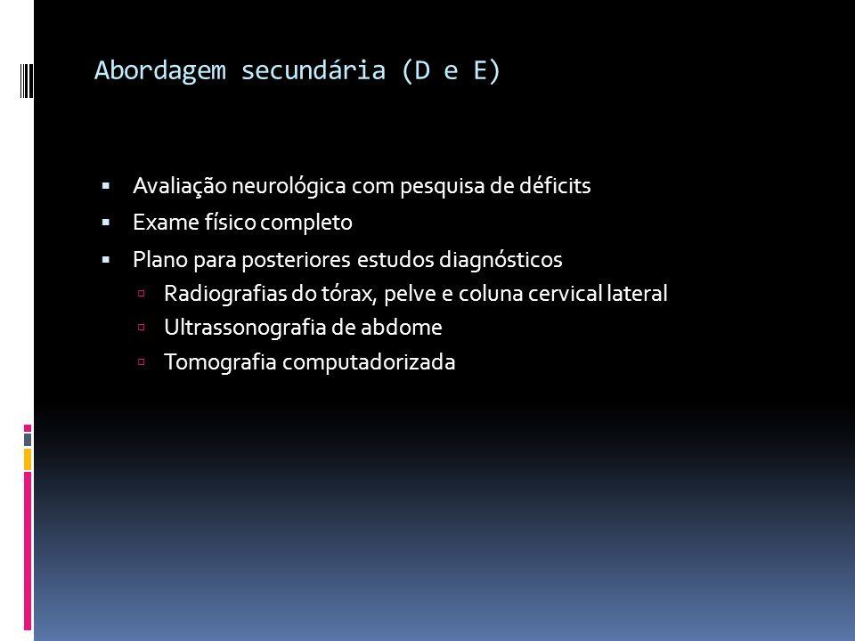 Abordagem secundária (D e E)