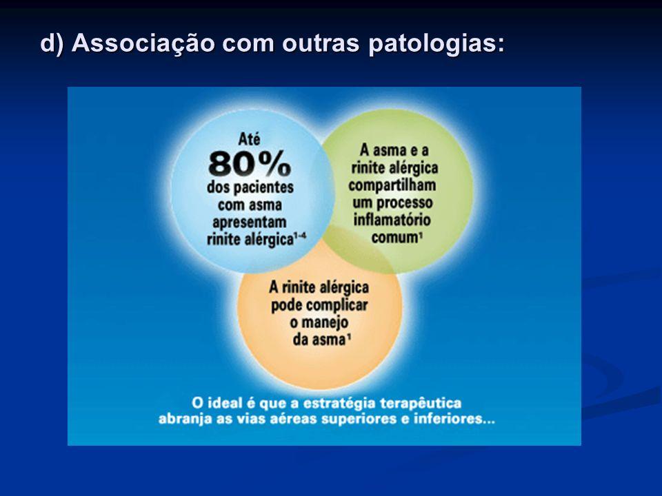 d) Associação com outras patologias:
