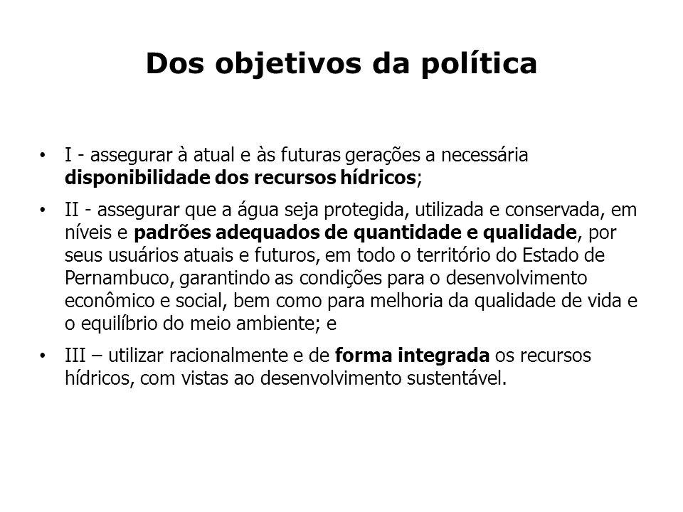 Dos objetivos da política
