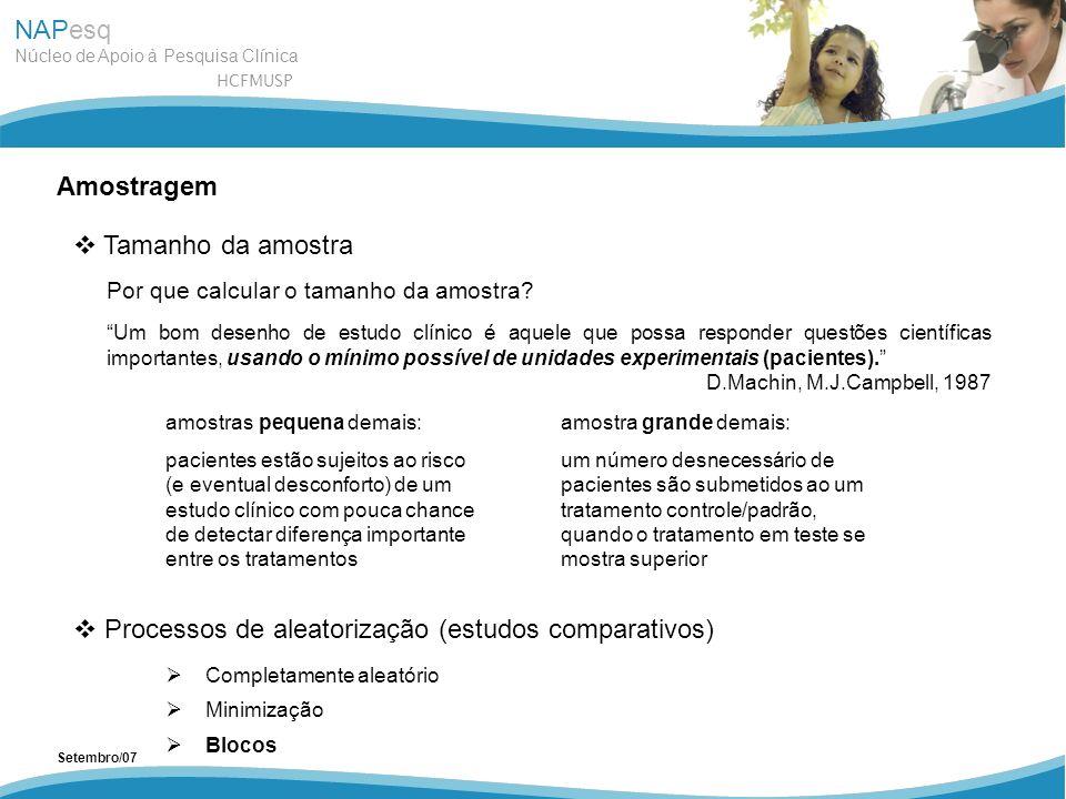 Processos de aleatorização (estudos comparativos)