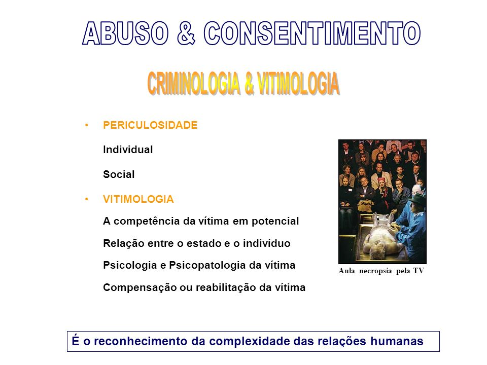 CRIMINOLOGIA & VITIMOLOGIA