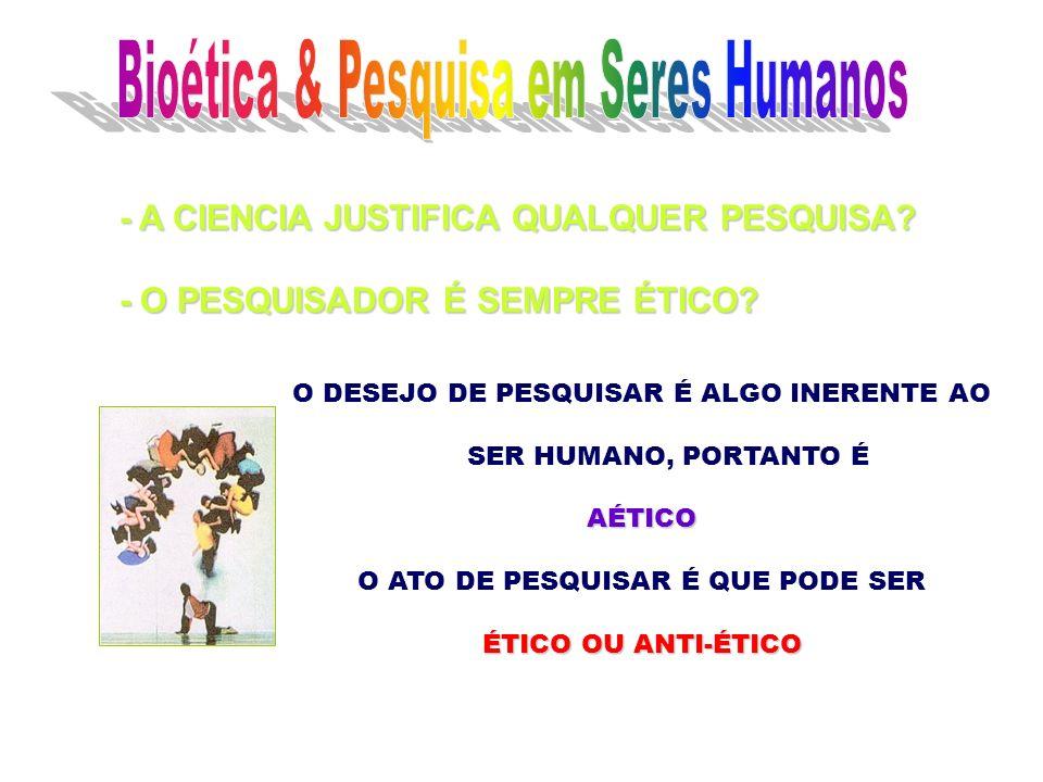 Bioética & Pesquisa em Seres Humanos