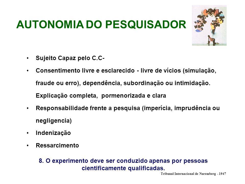 AUTONOMIA DO PESQUISADOR