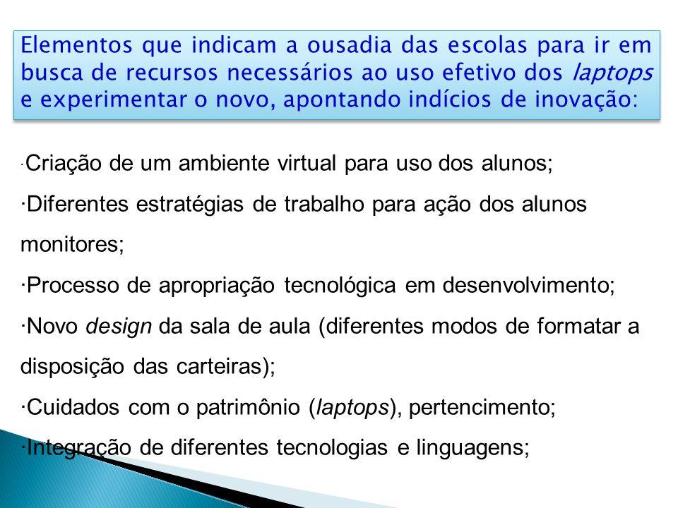 ·Diferentes estratégias de trabalho para ação dos alunos monitores;