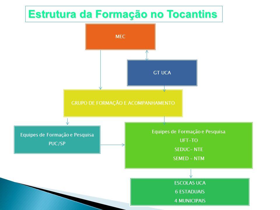 Estrutura da Formação no Tocantins