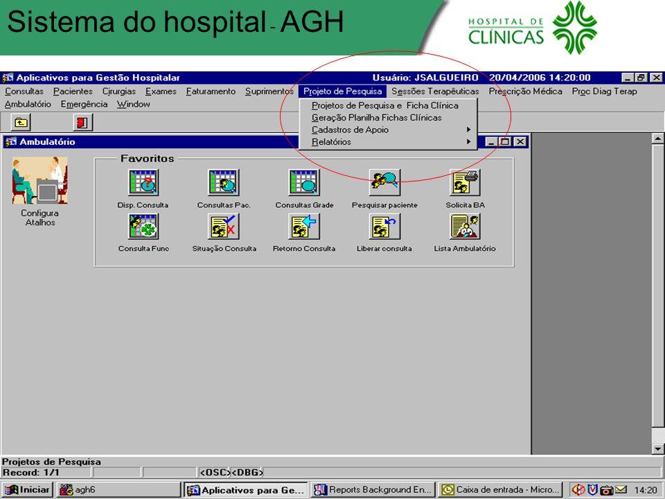 Sistema do hospital - AGH