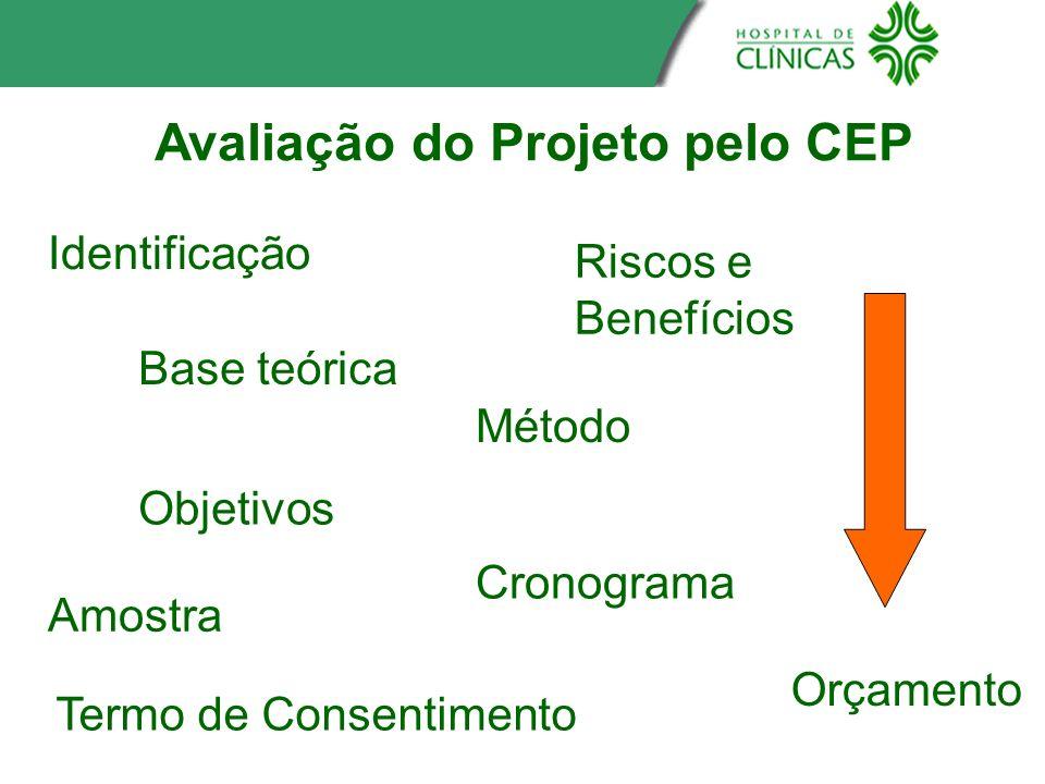 Avaliação do Projeto pelo CEP