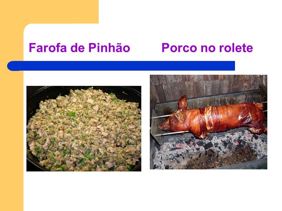 Farofa de Pinhão Porco no rolete
