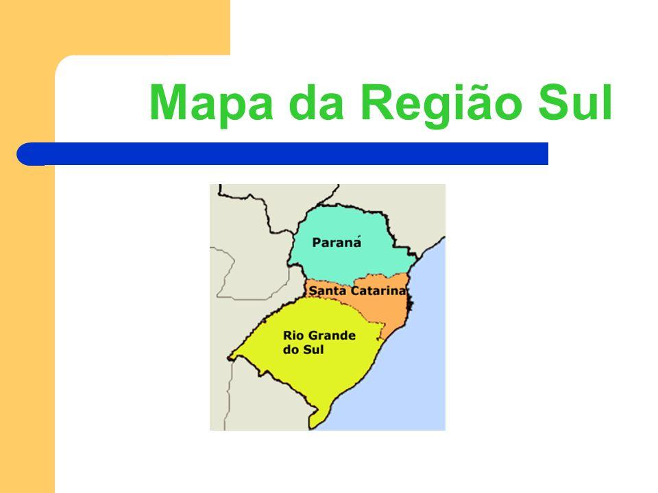 Mapa da Região Sul