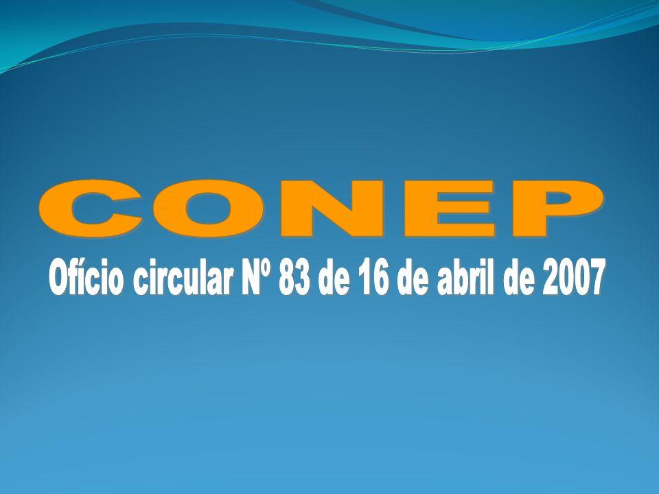 Ofício circular Nº 83 de 16 de abril de 2007