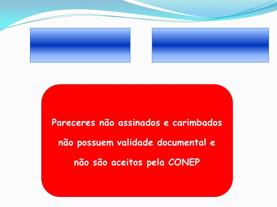 ______ _______ Pareceres não assinados e carimbados não possuem validade documental e não são aceitos pela CONEP.