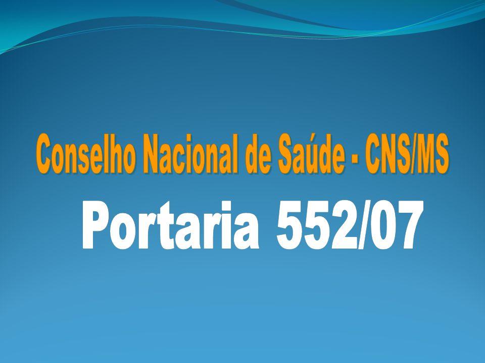 Conselho Nacional de Saúde - CNS/MS