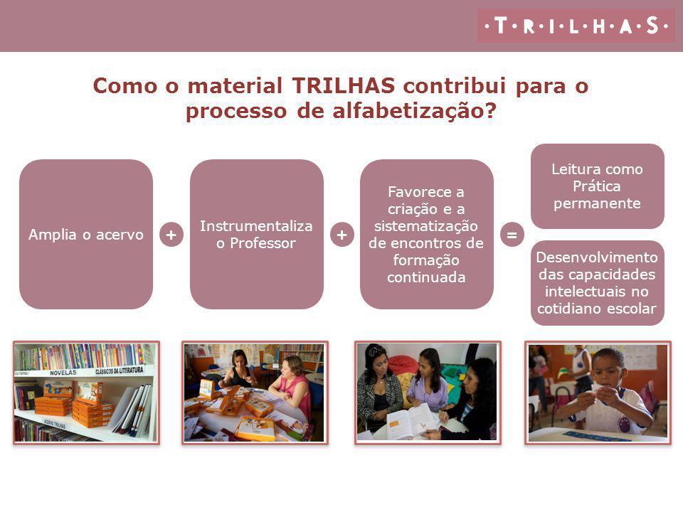 Como o material TRILHAS contribui para o processo de alfabetização