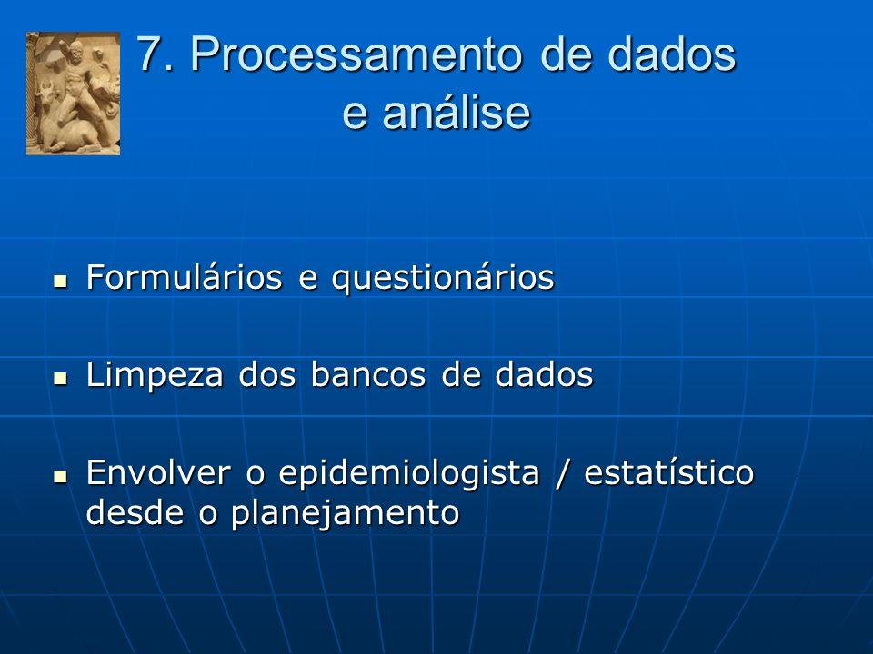 7. Processamento de dados e análise