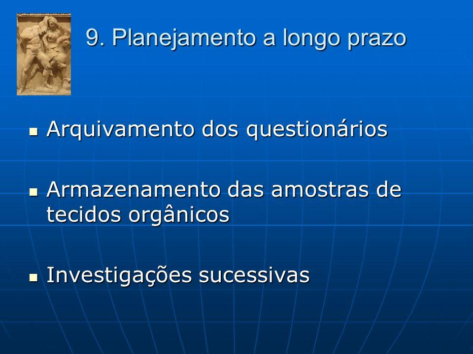 9. Planejamento a longo prazo