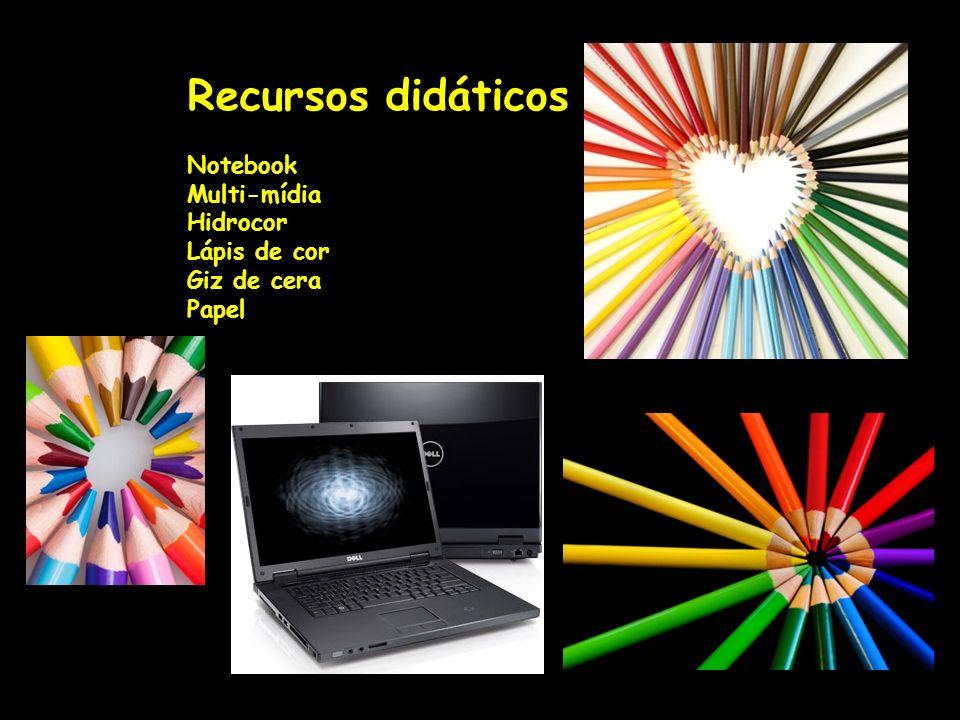 Recursos didáticos Notebook Multi-mídia Hidrocor Lápis de cor