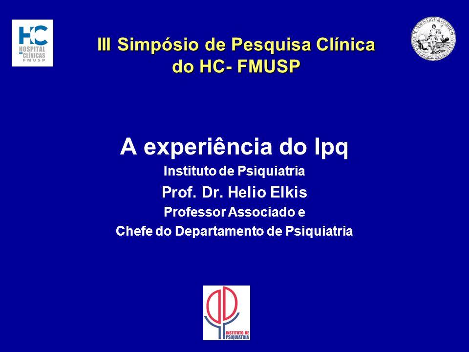 III Simpósio de Pesquisa Clínica do HC- FMUSP
