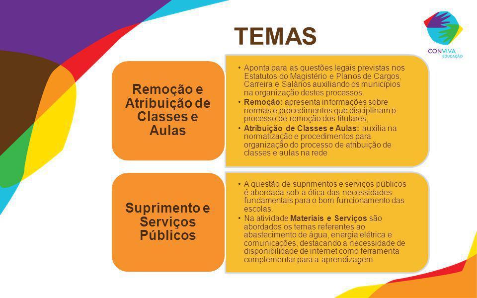 Remoção e Atribuição de Classes e Aulas Suprimento e Serviços Públicos