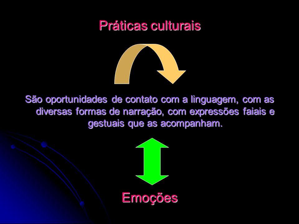 Práticas culturais Emoções