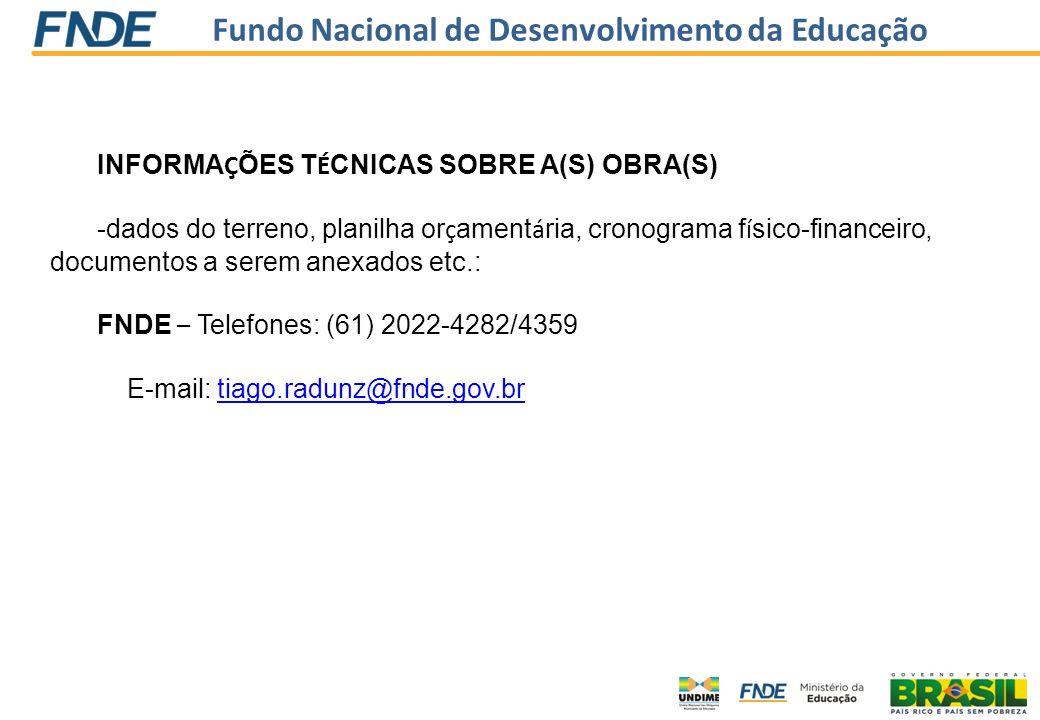 INFORMAÇÕES TÉCNICAS SOBRE A(S) OBRA(S)