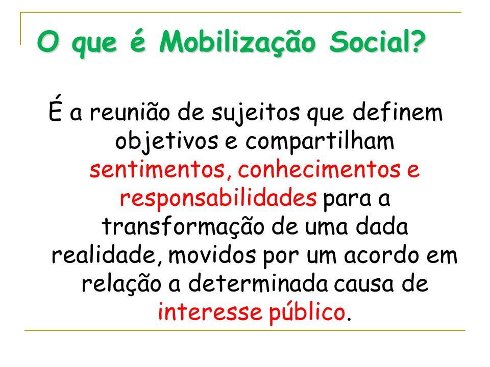 O que é Mobilização Social
