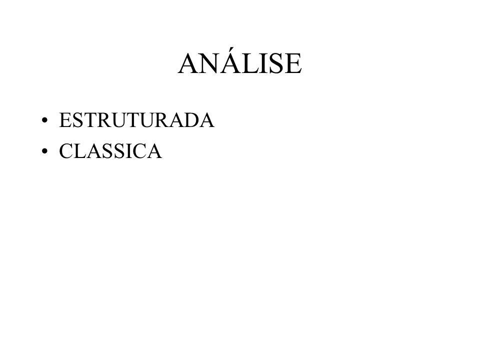 ANÁLISE ESTRUTURADA CLASSICA