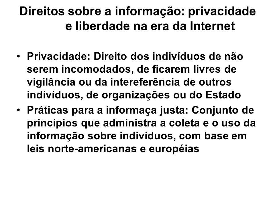 Direitos sobre a informação: privacidade e liberdade na era da Internet