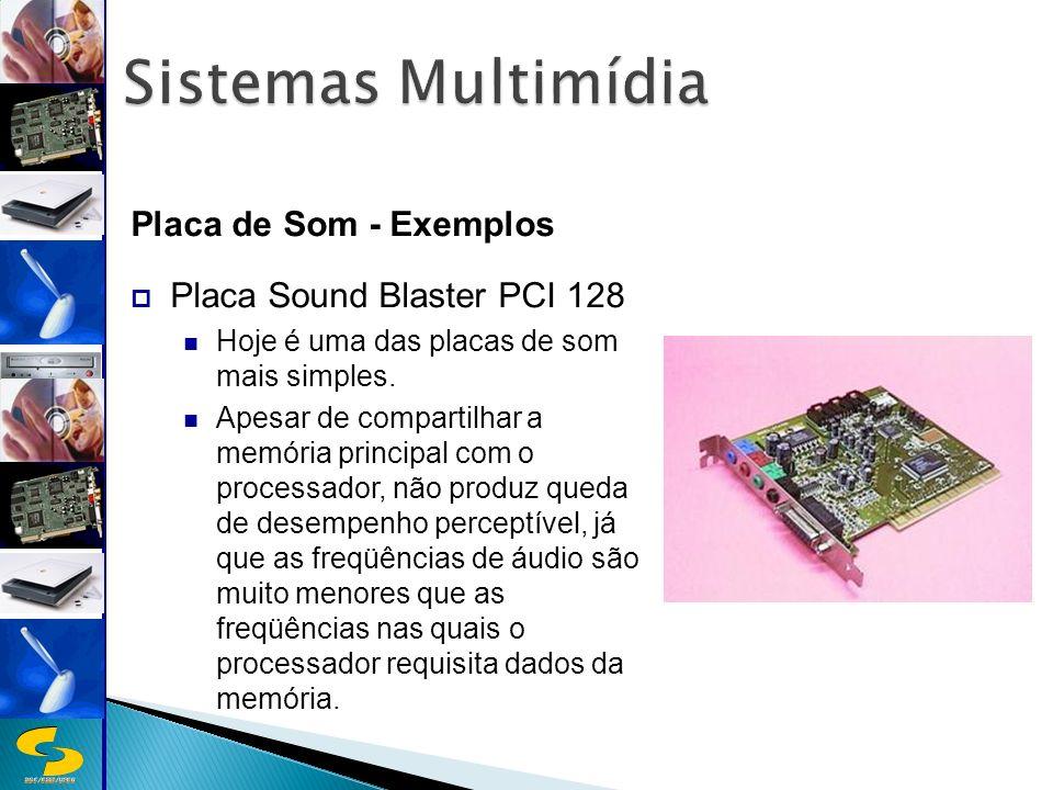Sistemas Multimídia Placa de Som - Exemplos