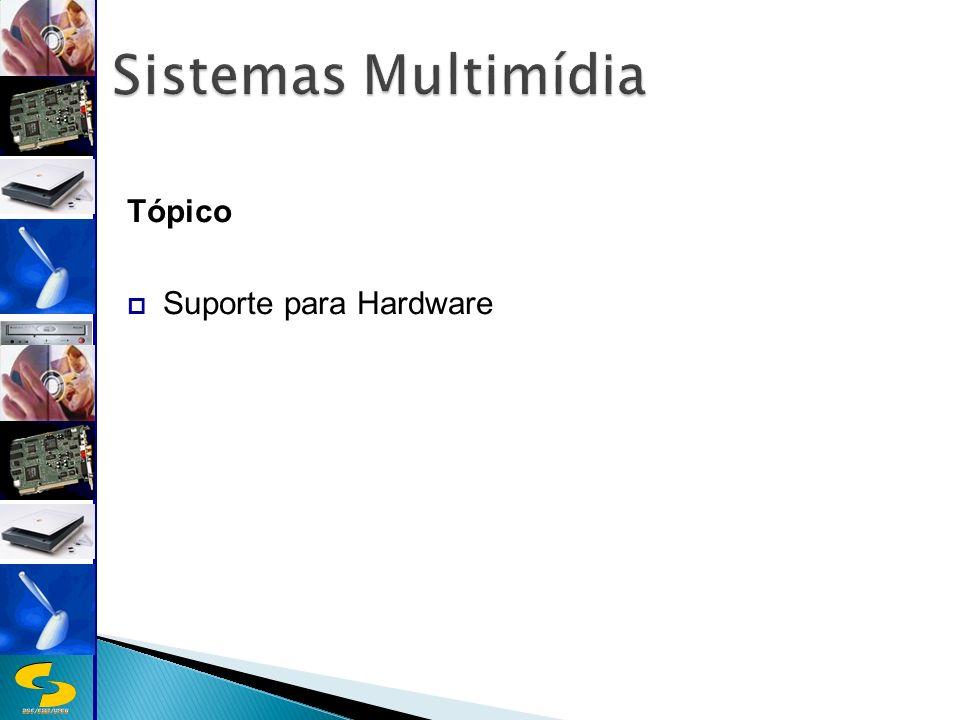 Sistemas Multimídia Tópico Suporte para Hardware