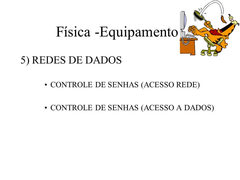 Física -Equipamentos 5) REDES DE DADOS