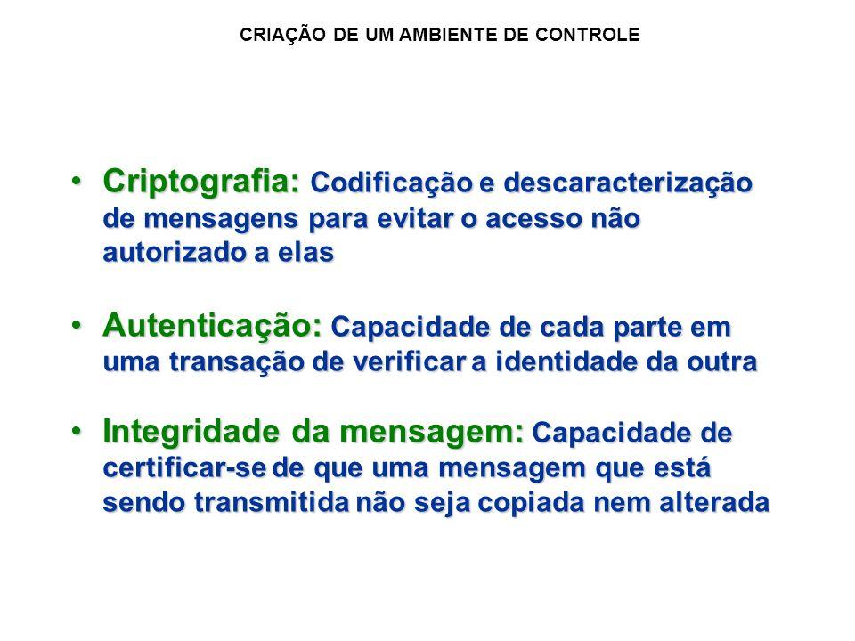 CRIAÇÃO DE UM AMBIENTE DE CONTROLE