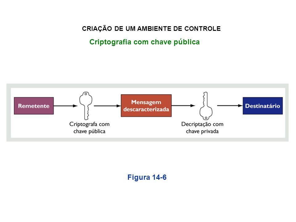 CRIAÇÃO DE UM AMBIENTE DE CONTROLE Criptografia com chave pública