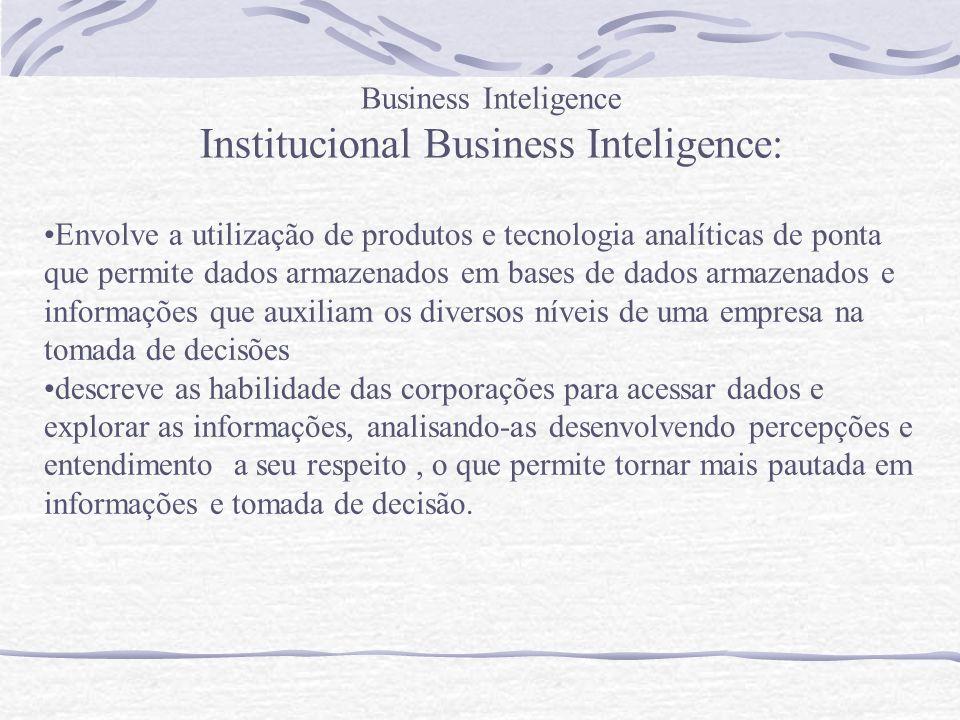 Institucional Business Inteligence: